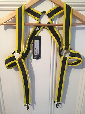 Neoprene Bracer Harness by Boxer of Barcelona Size M Black/Yellow NEW Gay/Fetish