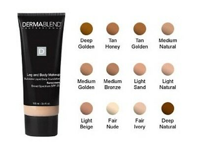 Dermablend Leg and Body Liquid Body Cover Foundation 100ml **BRAND NEW**