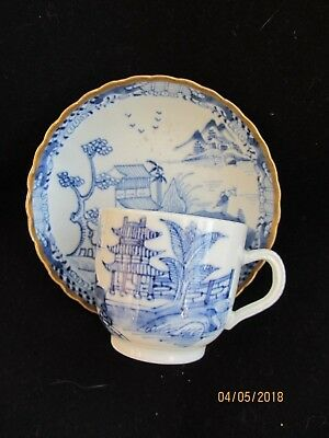 Antique 18th Century Chinese Blue and White Coffee Cup and Saucer Qing - Superb