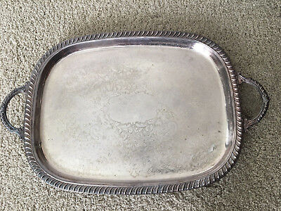 Leonard Silver Footed Serving Tray Fancy Retro Vintage