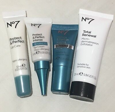 Boots No7 Skincare Bundle Mini Protect And Perfect Intense Mini Samples Travel