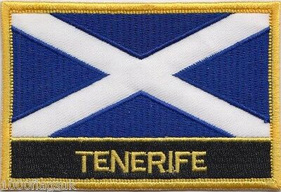 Spain Canary Islands Tenerife Flag Embroidered Patch Badge - Sew or Iron on