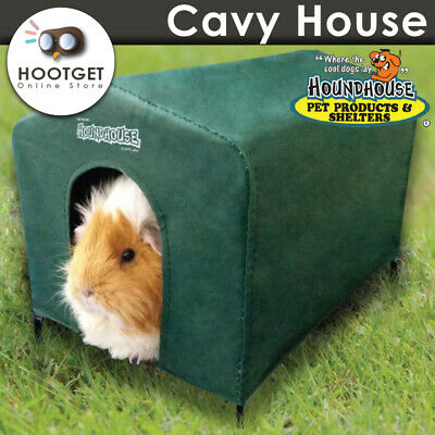 HoundHouse Cavy House Guinea Pig Bed Hutch Shelter Kennel Green Hound House