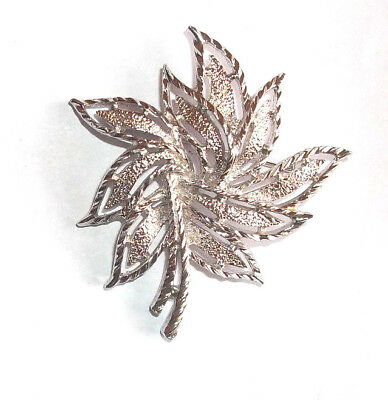Sarah Coventry Silvertone Flower Brooch Pin