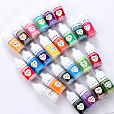 24-Colour 5ml Dies Rainbow Pearlescent Mica UV Resin Epoxy Pigment Powder