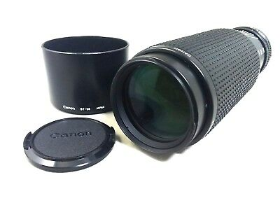 """""""AS IS"""" Canon New FD 100-300mm F5.6 Zoom Lens NFD Hood from Japan *90004"""