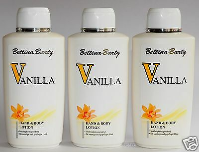 Bettina Barty Vanilla parfümierte Hand- Körperlotion 3 x 500 ml (EUR12,60 /1 L)
