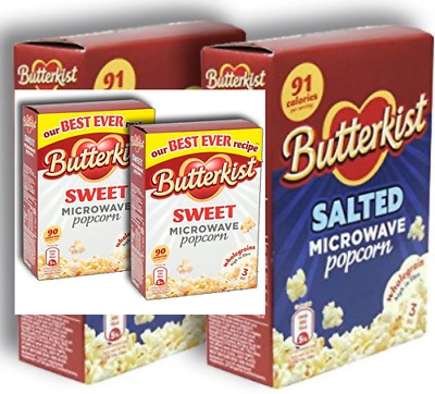 Butterkist SWEET/SALTED Microwave Popcorn Pack of 2 ( 210g box x 2 ) 6 Sachets