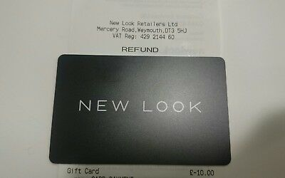 New Look £10 Gift card Issued May 2018 New and unscratched