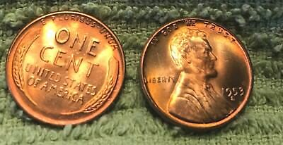 1953 S Lincoln Wheat Cent Nice MS RED Lincoln Coin From old bank wrapped roll