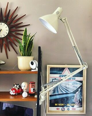 Vintage Thousand & One Anglepoise Lamp With Bracket Midcentury Industrial Light