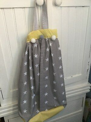 BABY NAPPY STACKER NURSERY YELLOW GREY POM POM boy girl chevron modern vintage