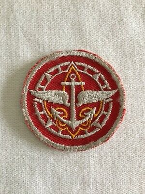 Vintage BSA Patch Wings Anchor Compass 1950's Explorer Boy Scouts Of America