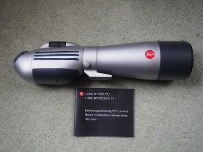 Leica T77 bird spotting scope, 2 eye pieces, Manfrotto tripod and accessories
