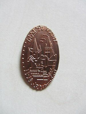 Elongated Coin Quetschmünze Mainz Dom EX Motiv