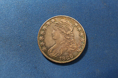 1826 capped Bust Half Dollar Awesome Details Toned