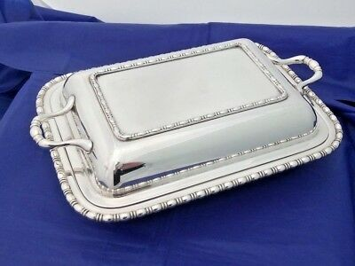 VTG Silver Plate Rectangular Entree Dish / Tureen by The Goldsmiths Co Newcastle