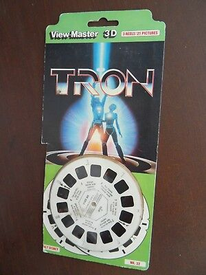 Viewmaster TRON 1980s pack with 21 3D pics from film
