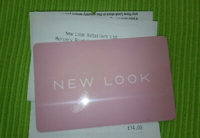 New Look £14 Gift card Issued May 2018 New and unscratched
