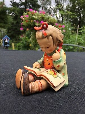 """Adorable Ceramic Reading Girl - About 4.25"""" Tall - Marked HA"""