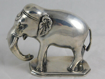 Fine Antique Indian Silver Elephant Mughal Mid 19th Century