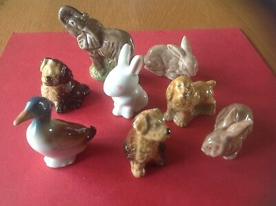 Nice Mixed collection of 8 ' Whimsies ' ( includes collectable 'Duck' )