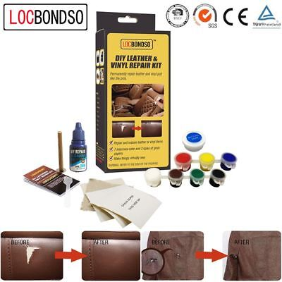 LOCBONDSO Tool No Heat Liquid Fix Rips Burns Holes Leather Vinyl Repair Kit
