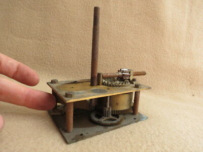 Antique Brass Plated Wind Up  Mechanical Shop Display Turntable Motor