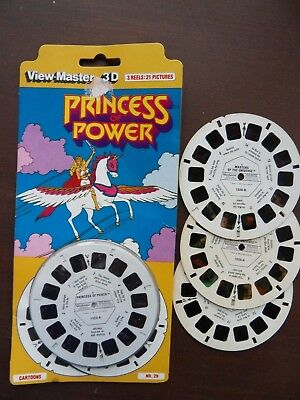 viewmaster Masters of the Universe + Princess Power x 6 reels 42 3D pics SEALED