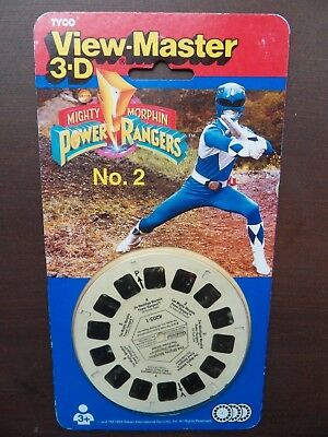 viewmaster Power Rangers x 3 reels 21 3D pics UNOPENED