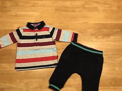 Baby Boys Ted Baker Suit - polo top and joggers 3-6 months.