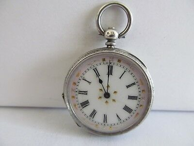 1885 fob pocket watch solid silver very good condition not working ????