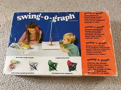 Swing O Graph Spirograph by Gonis vintage toy drawing set boxed and complete