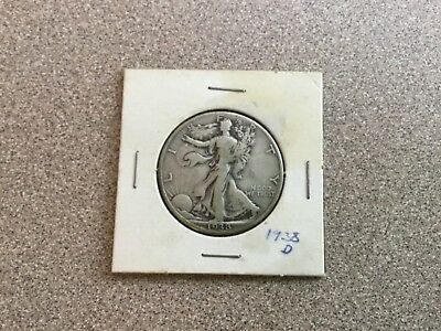 1938 D Walking Liberty Half Dollar. Estate Find,