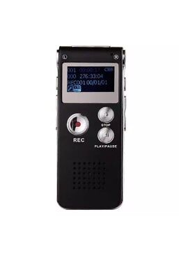8GB Rechargeable Digital Audio Voice Recorder Dictaphone USB Drive MP3 Player