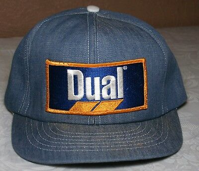 DUAL HERBICIDE Snapback Hat Cap SWINGSTER Made in USA DENIM Trucker PATCH