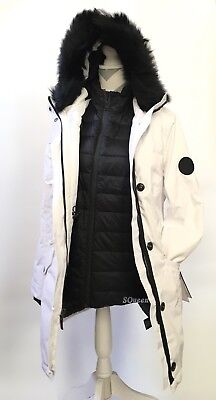 f1f38fdcb05 UGG ADIRONDACK DOWN Parka With Vest 3 In 1 Waterproof Jacket White -Size M  -Nwt