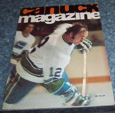 Vancouver Canucks Game Program  February 15 1975 vs Atlanta Flames