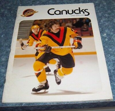 Vancouver Canucks Game Program  December 5 1978 vs Atlanta Flames