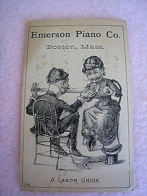 New Orleans Trade Card...1890's-1910....Emerson Piano Co.....Canal and Burgundy