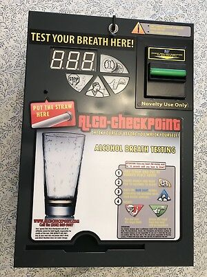 Alco Checkpoint Breathalyzer Vending Machine For Bar Or Man cave