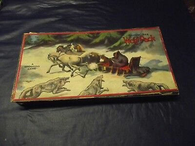 "Antique ""fighting The Wolf Pack"" Rifle & Cork Shooting Game"