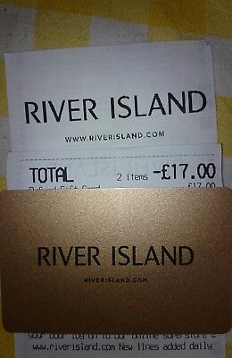 River Island £17 Gift Card - Issued May 2018 New and Unscratched
