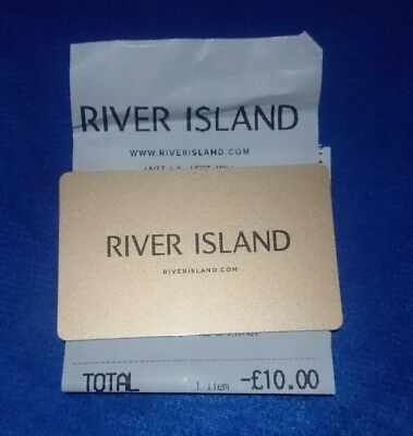 River Island £10 Gift Card - Issued May 2018 - New and unscratched