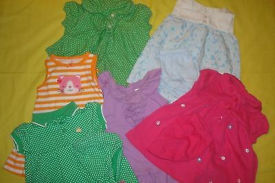 CARTERS,RALPH LAUREN Lot of Girls Pre Owned Dresses Baby Clothing Size 6 Months