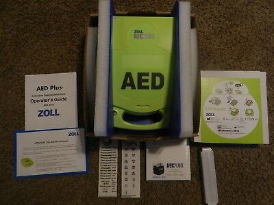 Zoll AED Plus Defibrillator with Sealed Pads, New BatteriesFree Shipping