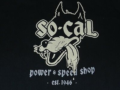 Vintage So Cal Wolf Power/Speed Shop T Shirt (2XL) 2-sided