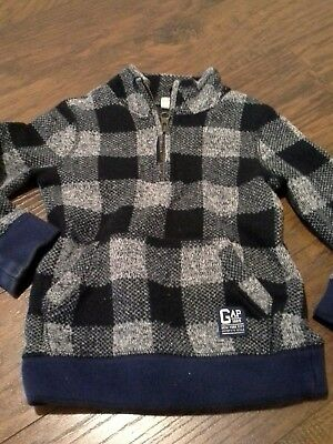 Baby gap blue and grey sweater 3T checks toddler boy