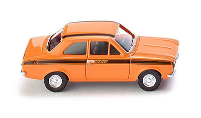 WIKING HO scale ~ FORD ESCORT MEXICO ~ FULLY ASSEMBLED plastic model in orange!
