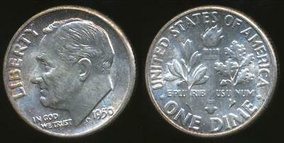 United States, 1950 Dime, Roosevelt (Silver) - Uncirculated